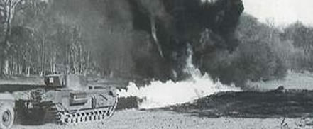 Churchill Crocodile flamethrower tank