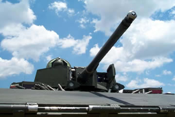 The Mk44 Bushmaster II 30mm chain gun
