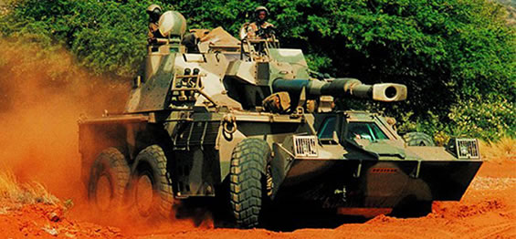 The South African G6 Rhino 155mm SPG