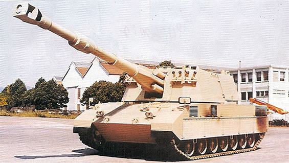 The Italian Palmaria 155mm Self Propelled Gun