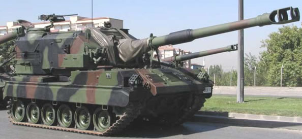 Turkish M52T SPG
