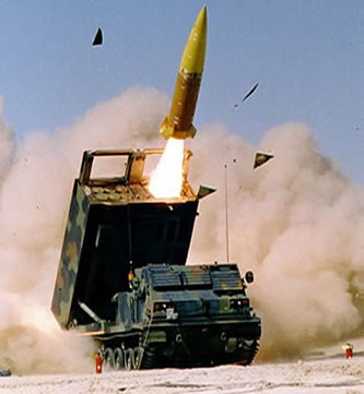 MLRS firing the GMLRS XM30 rocket