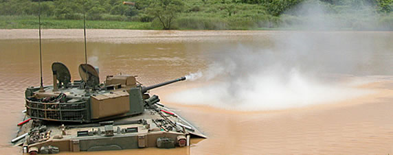 Korean K21showing it can fire effectively in the water