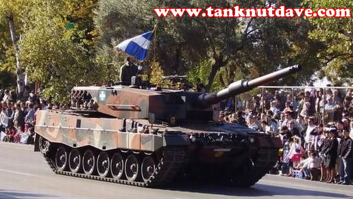 A Leopard 2A4 of the Hellenic Army, are German surplus vehicles