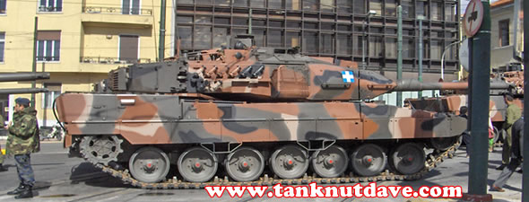 A Leopard 2A6HEL of the Hellenic Army is the most advanced of the A6's