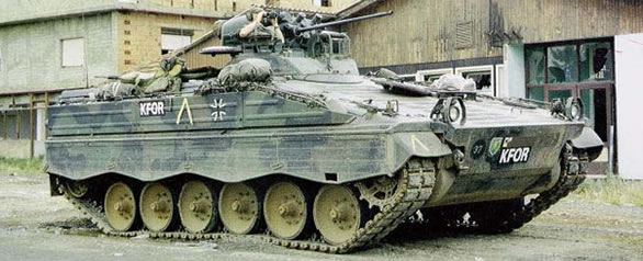Marder 1 A3 in Kosovo as part of KFOR