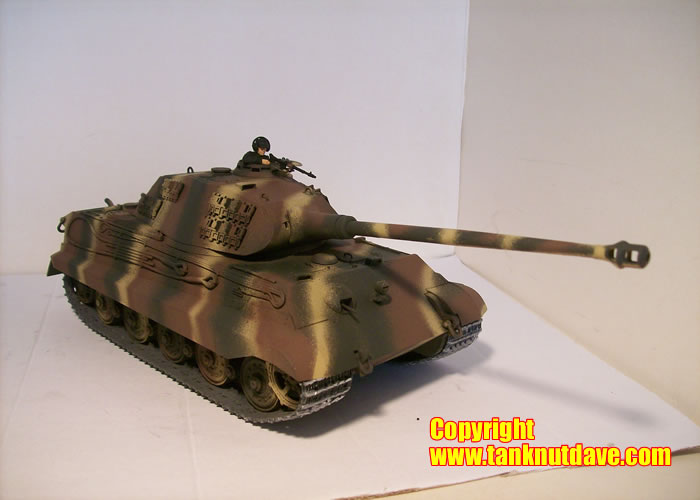Tamiya King Tiger model tank Porsche turret