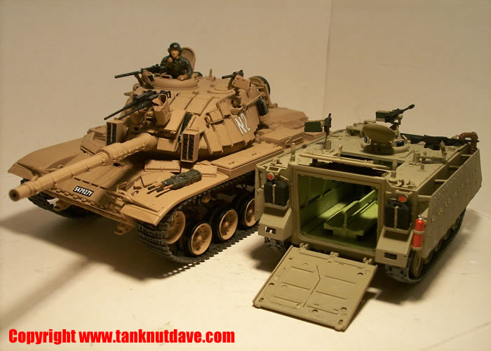 Academy M113 Zelda model APC & Academy Magach model tank on left