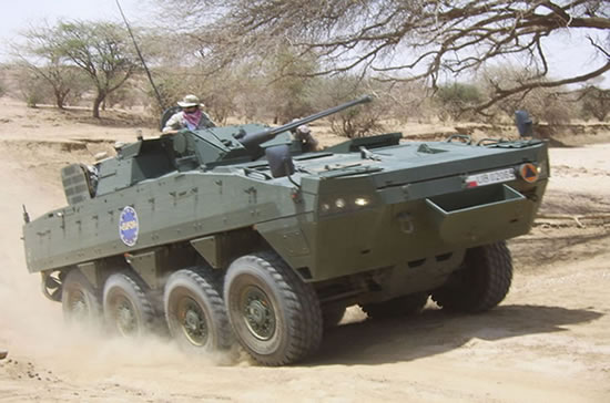 Polish AMV's in Chad on Peace keeping duties