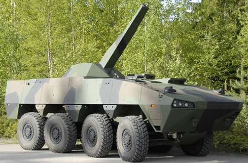 The XA-361 and is equipped with the 120mm Advanced Mortar System AKA AMOS