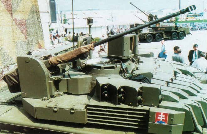 The T-72M2 Tank 20mm chain gun