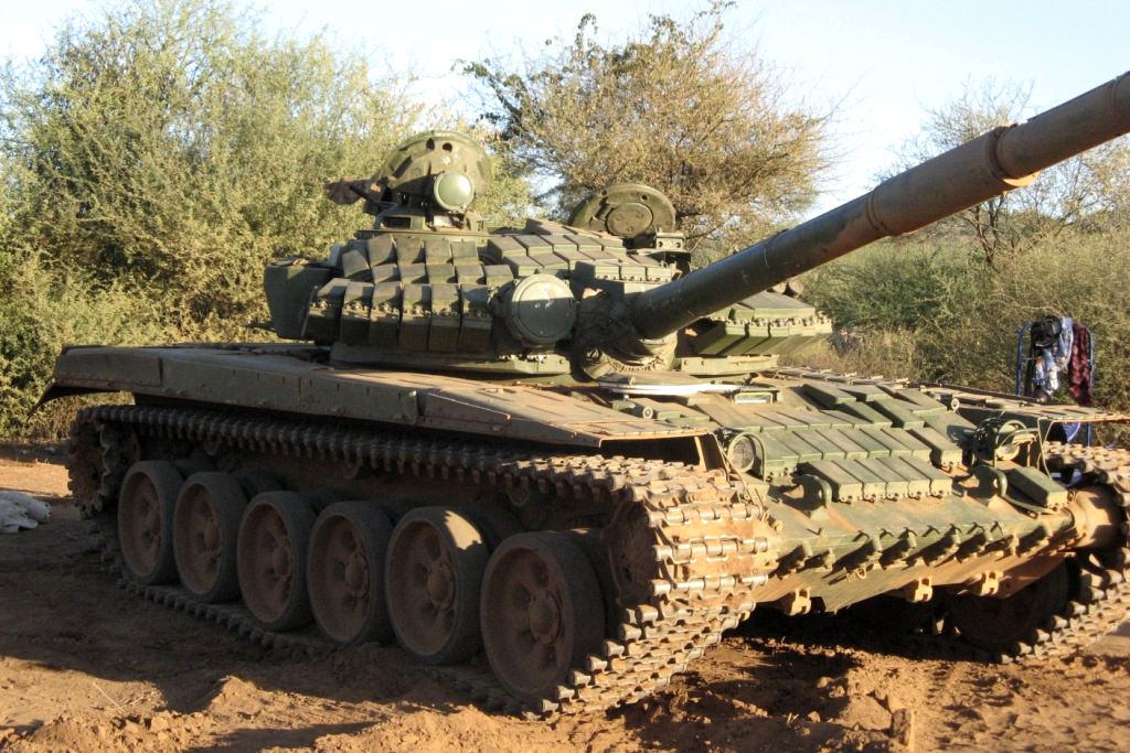 T-72AV Fitted with Kontakt-1 Explosive Reactive Armour