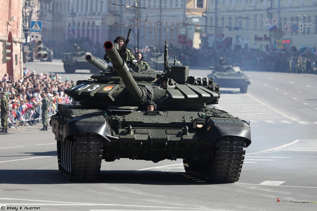 The T-72B3 is the most modern T-72 in Russian Army service as of 2013