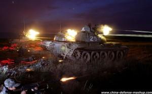 Type 59 Tank firing