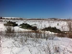 Towing Sinking Leopard 2 Tank