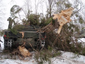 Crashed Leopard 2